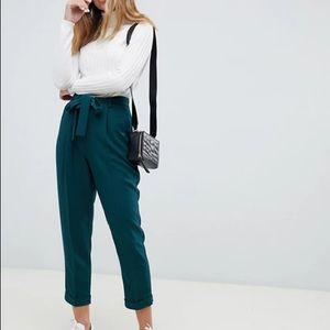 3/$40 ASOS green tie waist pants